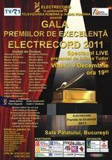 Gala Premiilor de Excelenta Electrecord 2011 la Sala Palatului