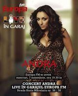 Concert Andra in Garajul Europa FM din Bucuresti