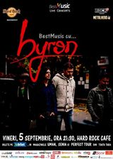 BestMusic cu byron la Hard Rock Cafe pe 5 septembrie