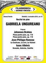 Recital de pian - Gabriela Ungureanu la Ateneul Roman