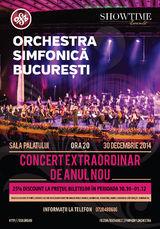 Concert Extraordinar de Anul Nou cu Orchestra Simfonica Bucuresti la Sala Palatului