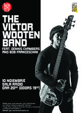 The Victor Wooden Band feat. Dennis Chambers & Bob Franceschini la Sala Radio pe 10 noiembrie
