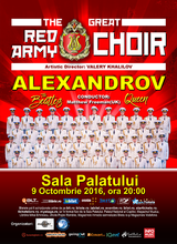 Concert extraordinar Corul Alexandrov - Red Army Choir la Bucuresti