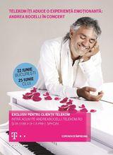 Andrea Bocelli concerteaza la Bucuresti pe 22 iunie