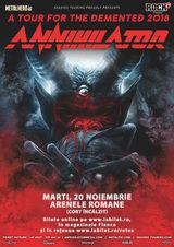 Concert Annihilator pe 20 Noiembrie la Arenele Romane