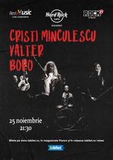 Concert Cristi Minculescu, Valter si Boro pe 25 noiembrie