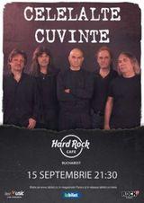 Concert Celelalte Cuvinte pe 15 septembrie in Hard Rock Cafe