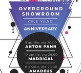 Overground Showroom, platforma de concerte on-demand, sarbatoreste un an pe 9-11 aprilie cu trei concerte in premiera – Anton Pann, Madrigal si Amadeus